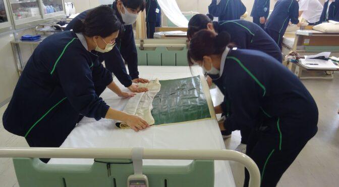 第1看護学科1年生 看護技術演習